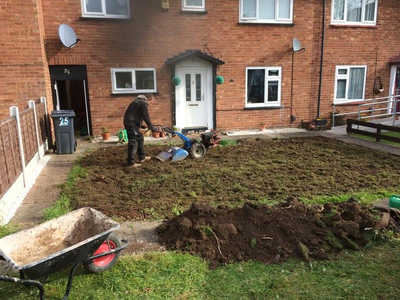 Image 19 - Being prepared for turf and path