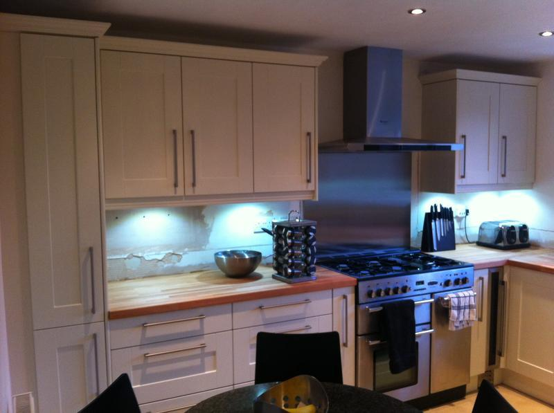 Image 31 - Fitted in Brackley. Oyster shaker doors, Country Beech Worktops.