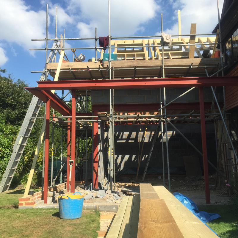 Image 11 - Double and single storey rear extensions with steel work