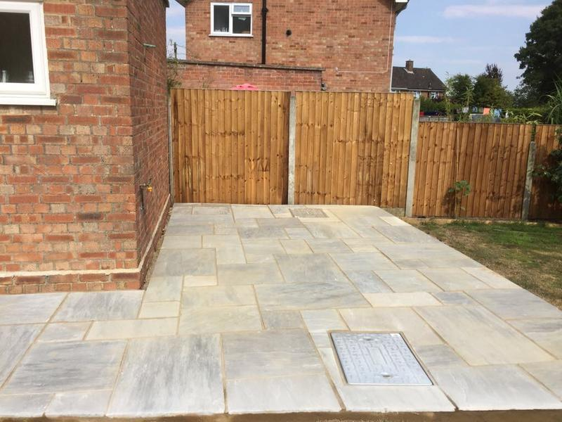 Image 24 - Indian sandstone patio.