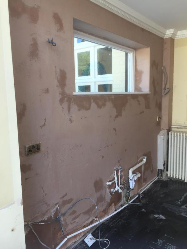 Image 38 - Wall plastered