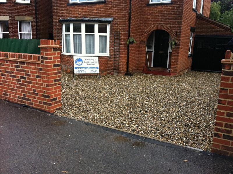 Image 7 - New gravelled driveway and Wall
