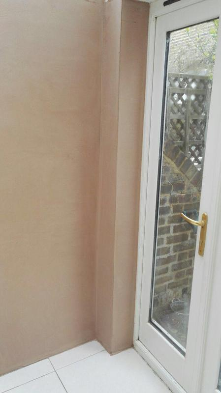 Image 13 - Residential Damp Proofing Works:                                              Plaster skim finish and cleaned post works