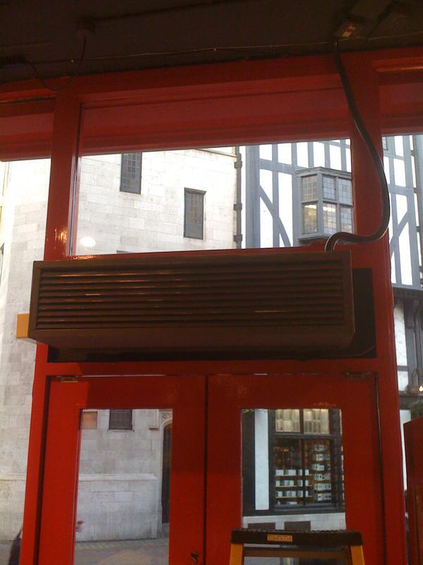 Image 12 - Old Warm Air Curtain Unit In WC1