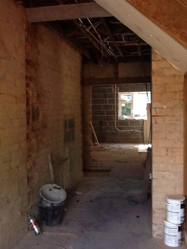 Image 23 - the interior is stripped back ready for plastering and elect Aug 2012