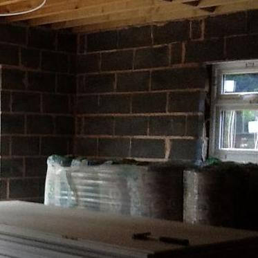 Image 22 - The new extension ready for plaster boarding and insulation Aug 2012