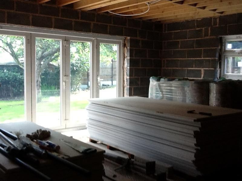 Image 32 - The new extension ready for plaster boarding and insulation Aug 2012