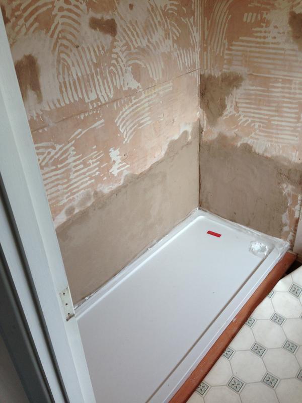 Image 36 - Work in progress for walk in shower