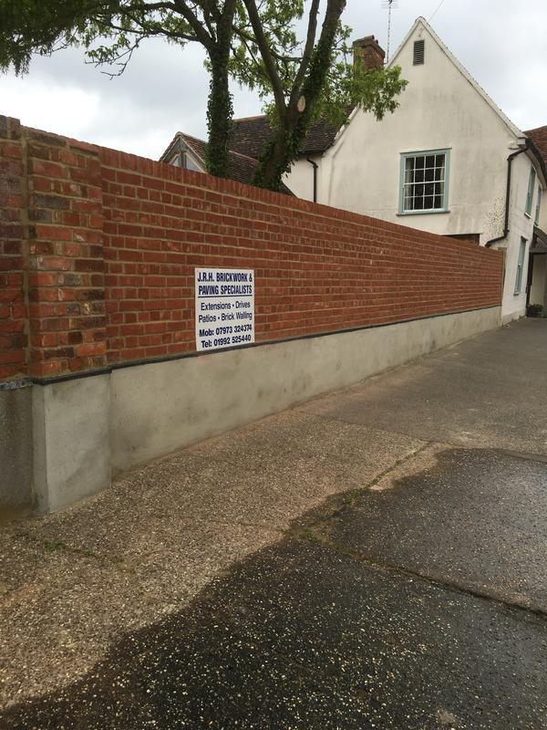 Image 3 - Red stock boundary wall Thaxted
