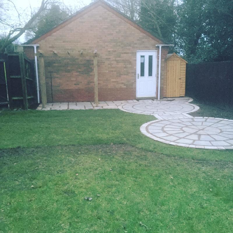 Image 56 - New patio area with a pergola