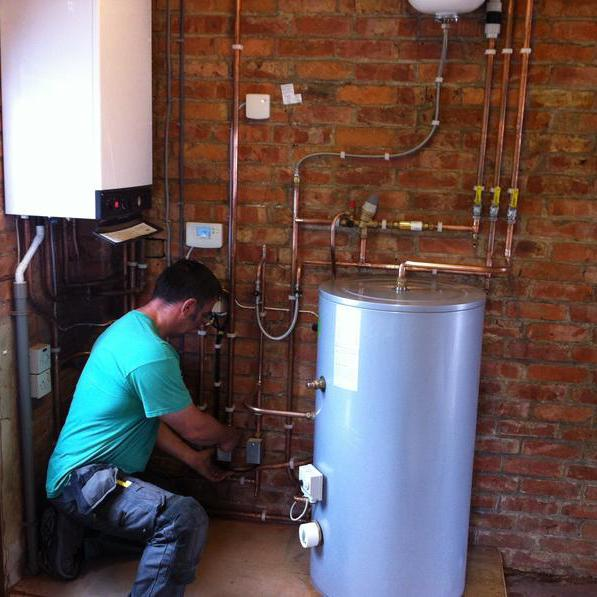 Image 7 - New boiler and unvented cylinder in boiler house