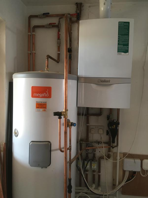 Image 16 - New boiler and unvented hot water cylinder installation in Romford. Vaillant with Megaflo cylinder.