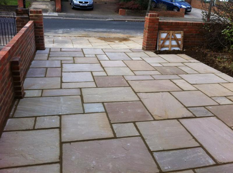 Image 4 - indian sandstone driveway.