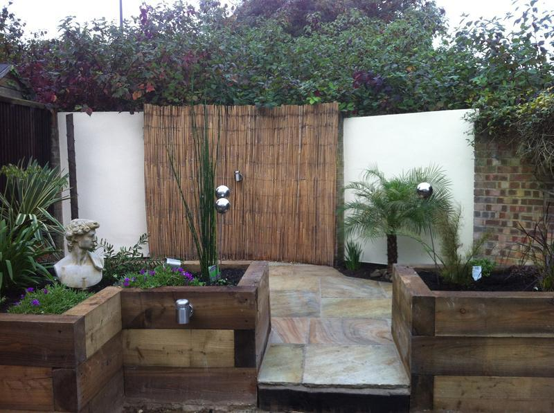 Image 27 - Landscape gardening with bespoke raised flower beds made with sleepers