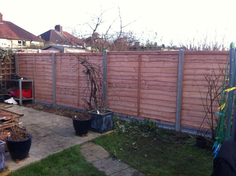 Image 4 - larch-lap panel fencing with concrete posts and gravel boards
