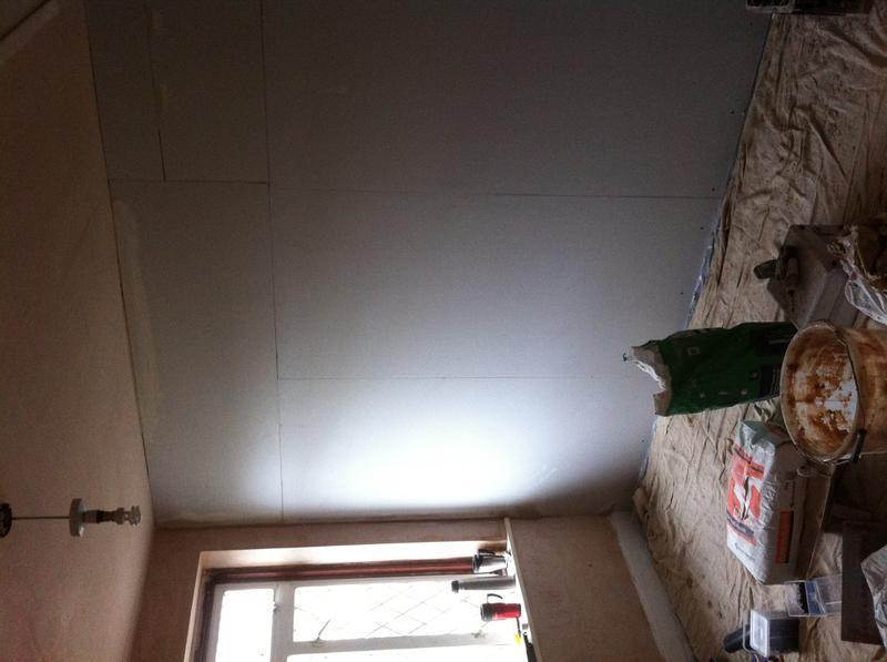 Image 52 - apply plaster board to wall after removing chemeney breast
