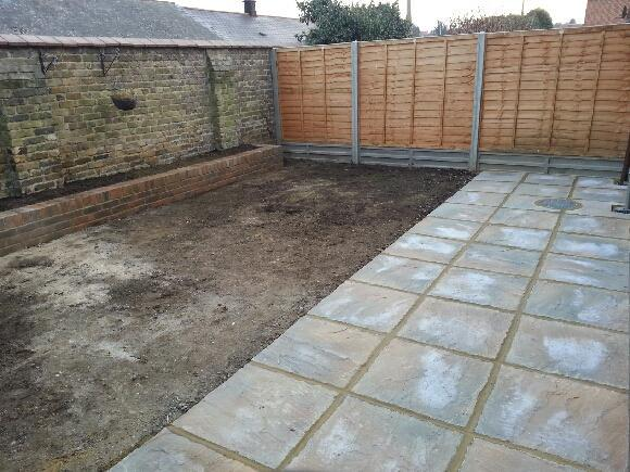 Image 27 - Fence, patio and grass