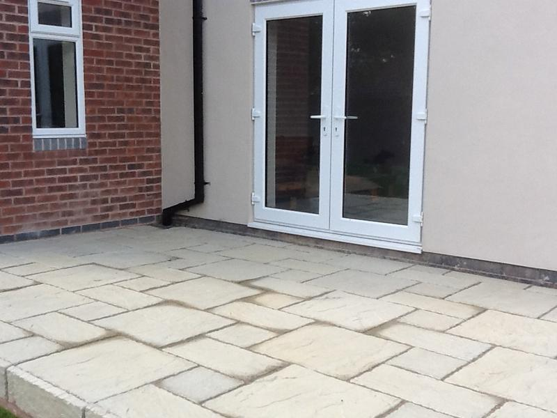 Image 3 - Alongside the decking D&G place a york stone patio