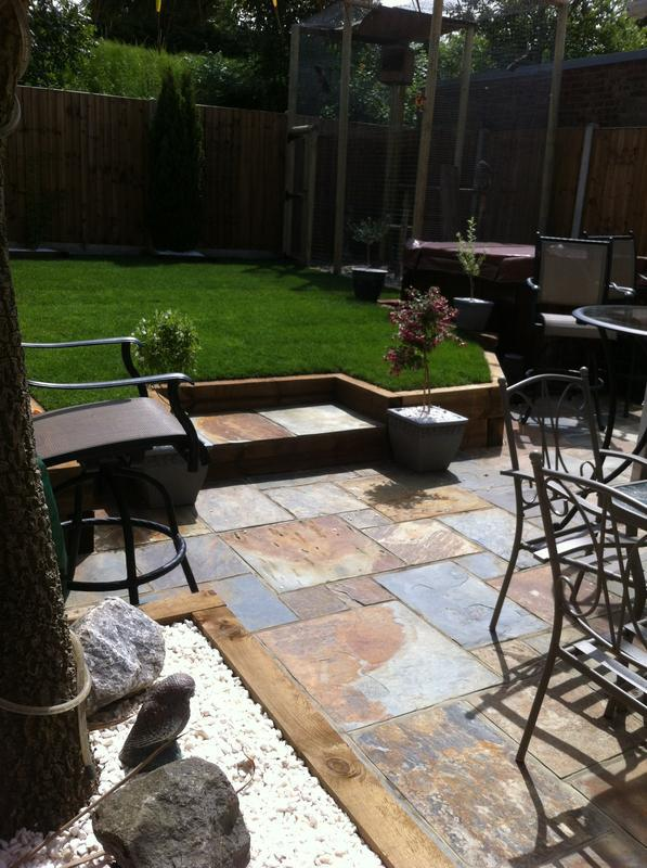 Image 33 - Re-newed the whole garden (turfed, slabbed & Sleepers for a nice finish)