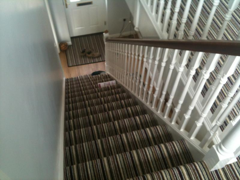 Image 1 - 100% wool Striped Carpet