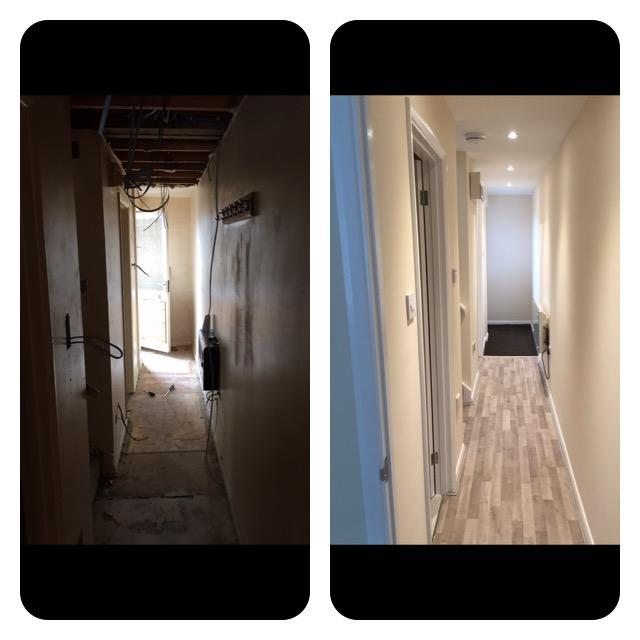 Image 27 - Duplex hallway refurb, before and after.