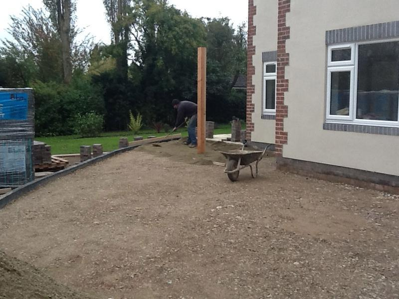 Image 46 - work starts on the block pave driveway Oct 2012