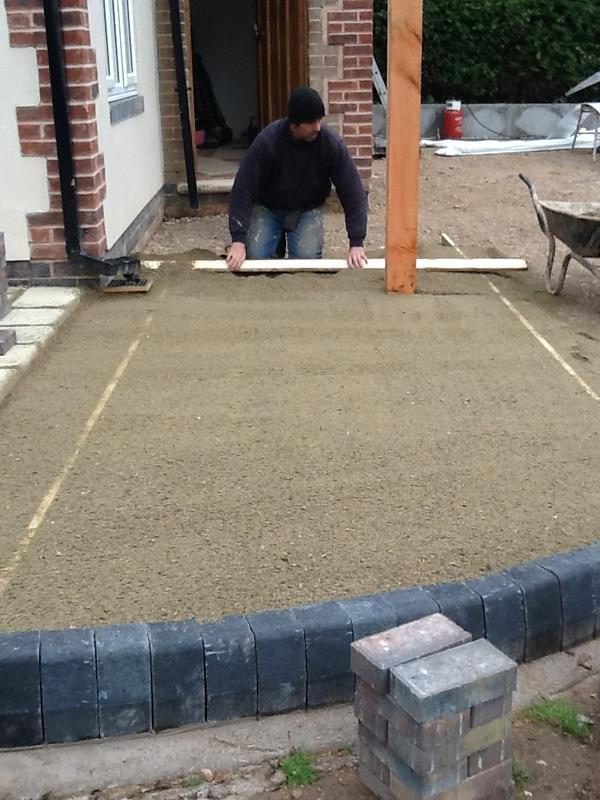Image 48 - Dave painstakingly levels the sand, Oct 2012