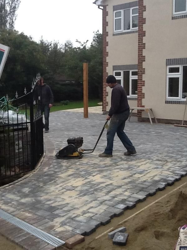 Image 6 - Works starts on a new block pave driveway Oct 2012