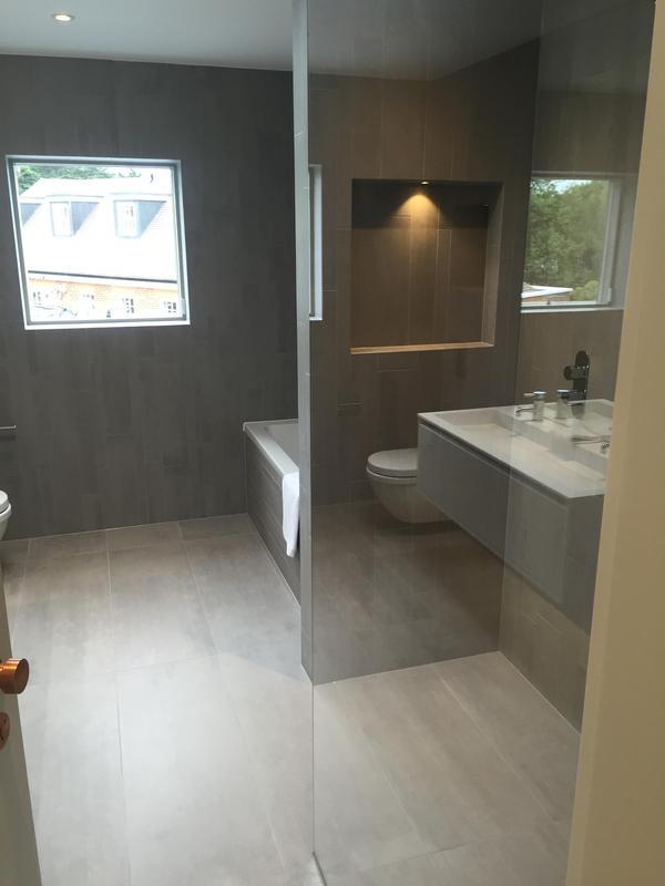 Image 18 - This luxury bathroom had wall recesses fitted for more storage and added design with built in spot lights.