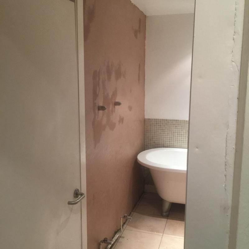 Image 4 - freshly plastered damp wall