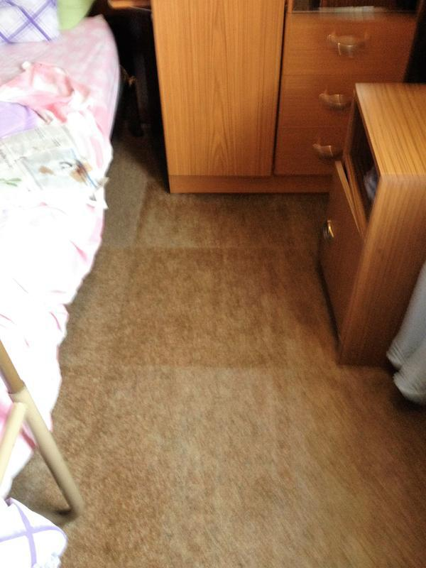 Image 7 - Stain on bedroom carpet removed