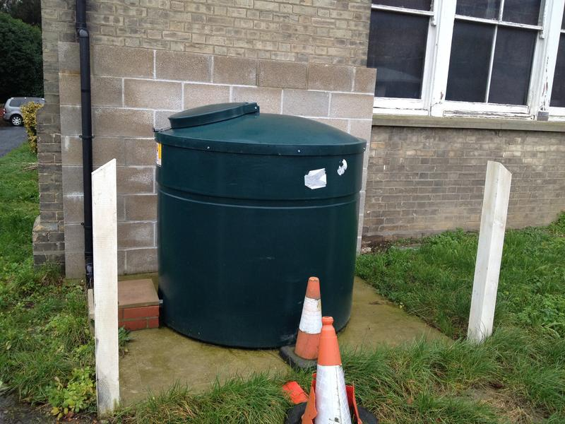 Image 25 - New oil tank & fireproof wall installation