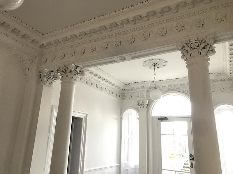 Image 21 - Ornate cornice was sprayed