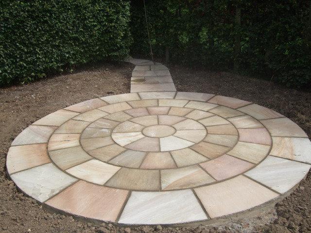 Image 21 - Natural Sandstone circle and path