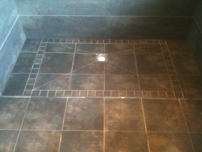 Image 51 - Porcelanosa Rectified Porcelain Tiles in a Impey Tile-on Wetroom Showertray