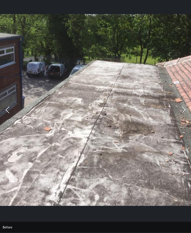 Image 6 - Before flat rubber roof
