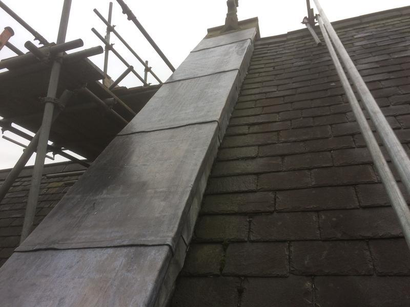 Image 50 - Lead work up the roof slope