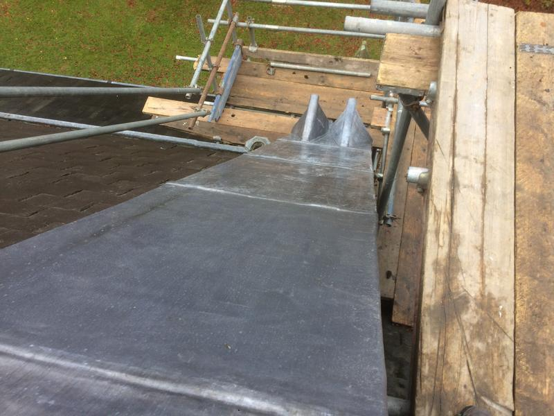 Image 51 - Lead work down the roof slope