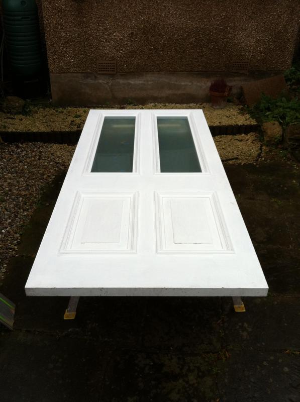 Image 7 - Front door made from hardwood, white painted