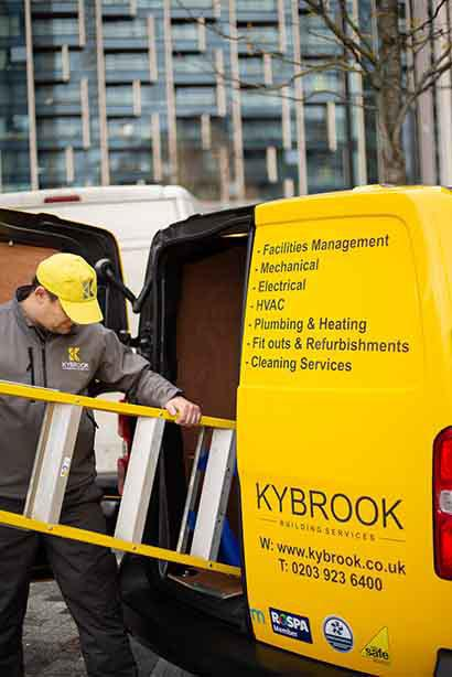 Image 1 - Unloading tools from our Kybrook van.