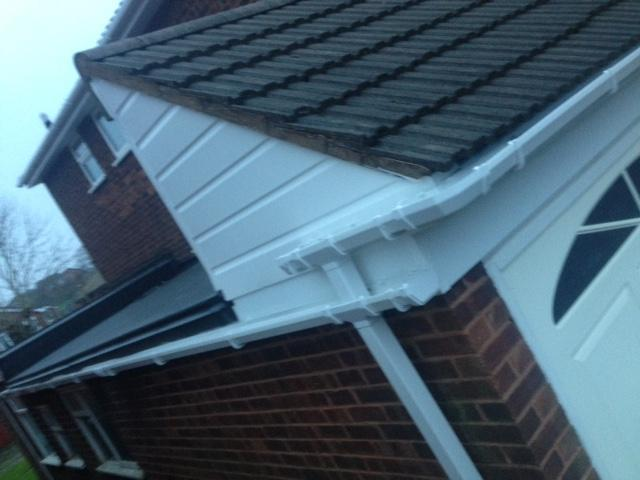 Image 5 - White high gloss guttering installation