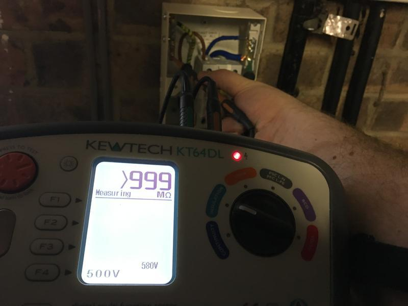 Image 2 - Insulation resistance testing for a newly installed circuit
