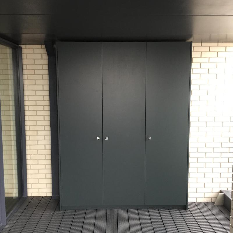 Image 14 - Fitted cupboard made from exterior ply and painted