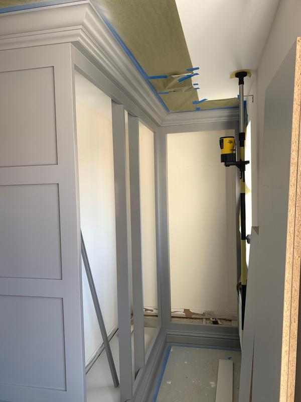 Image 29 - Tulipwood fitted Wardrobe finished with PreCat Satin Signal Grey.