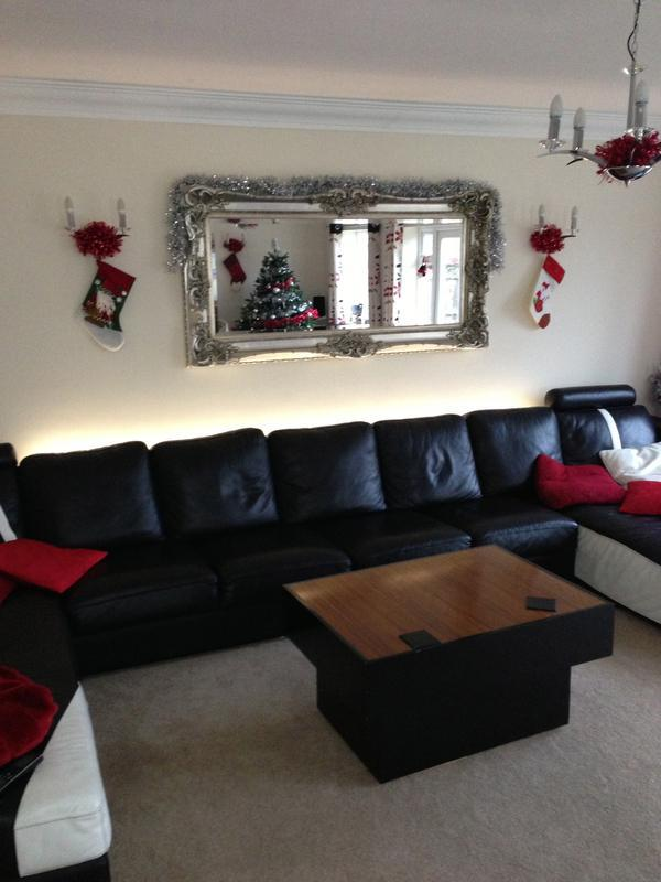Image 7 - LED lighting behind sofa