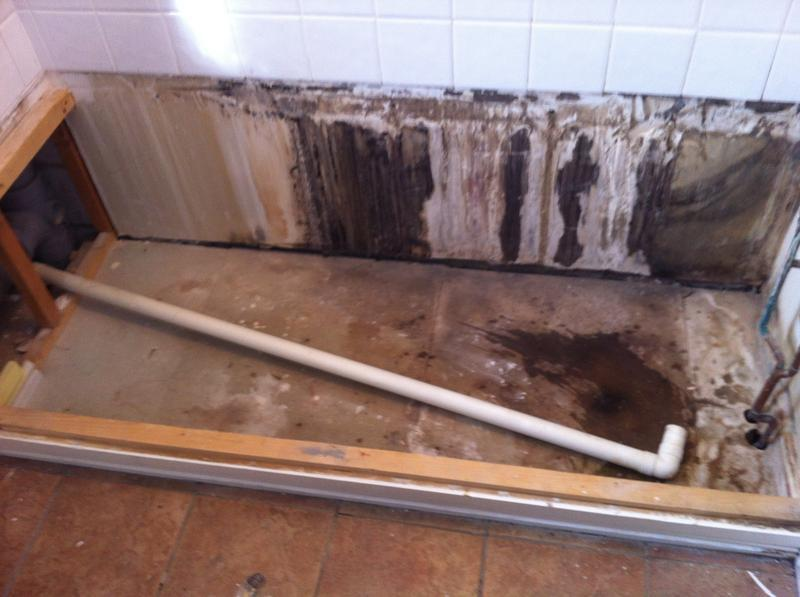 Image 5 - Step 3. removal of debris and clean under bath area