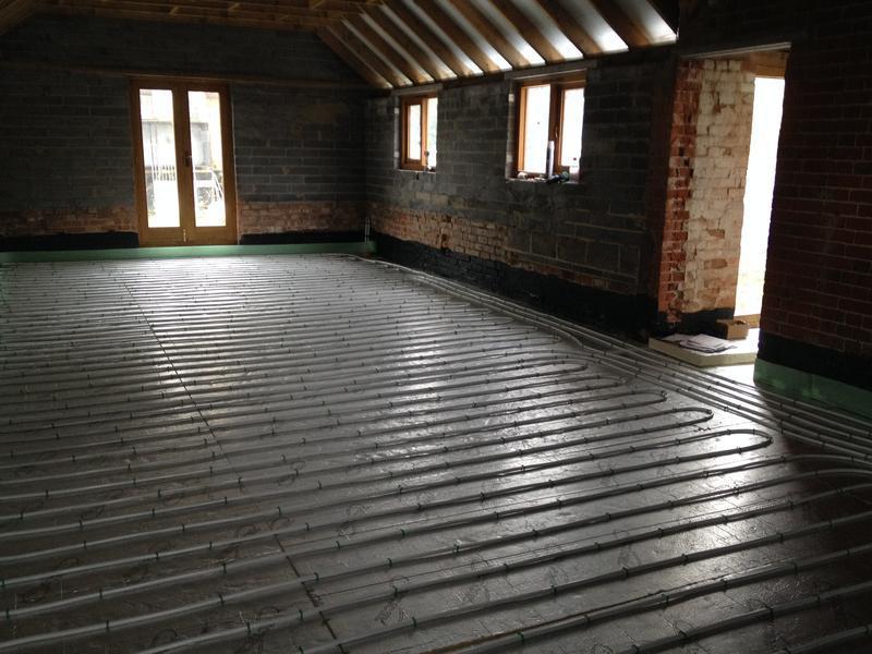 Image 27 - Underfloor heating installation