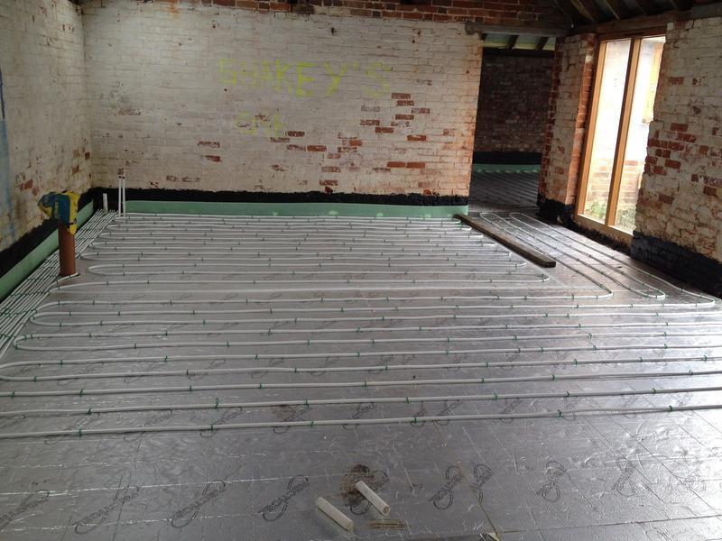 Image 25 - Underfloor heating installation