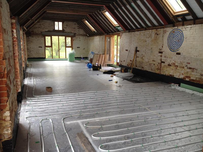Image 26 - Underfloor heating installation