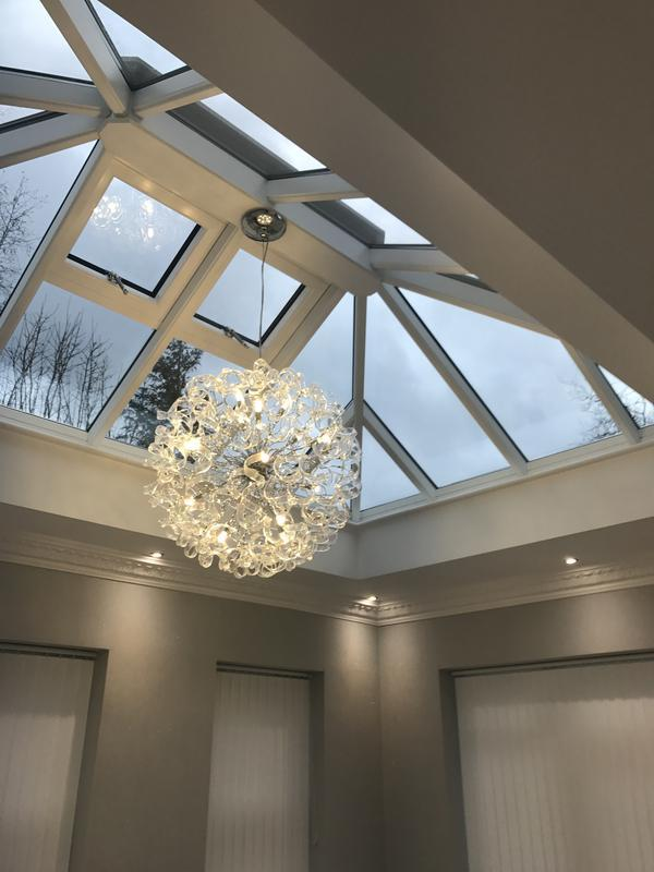 Image 2 - Absolutely beautiful lighting installation in this orangery customer was over the moon!
